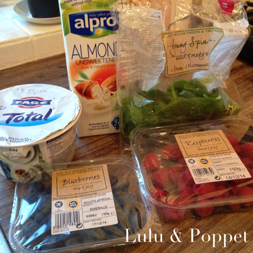 Power smoothie ingredients