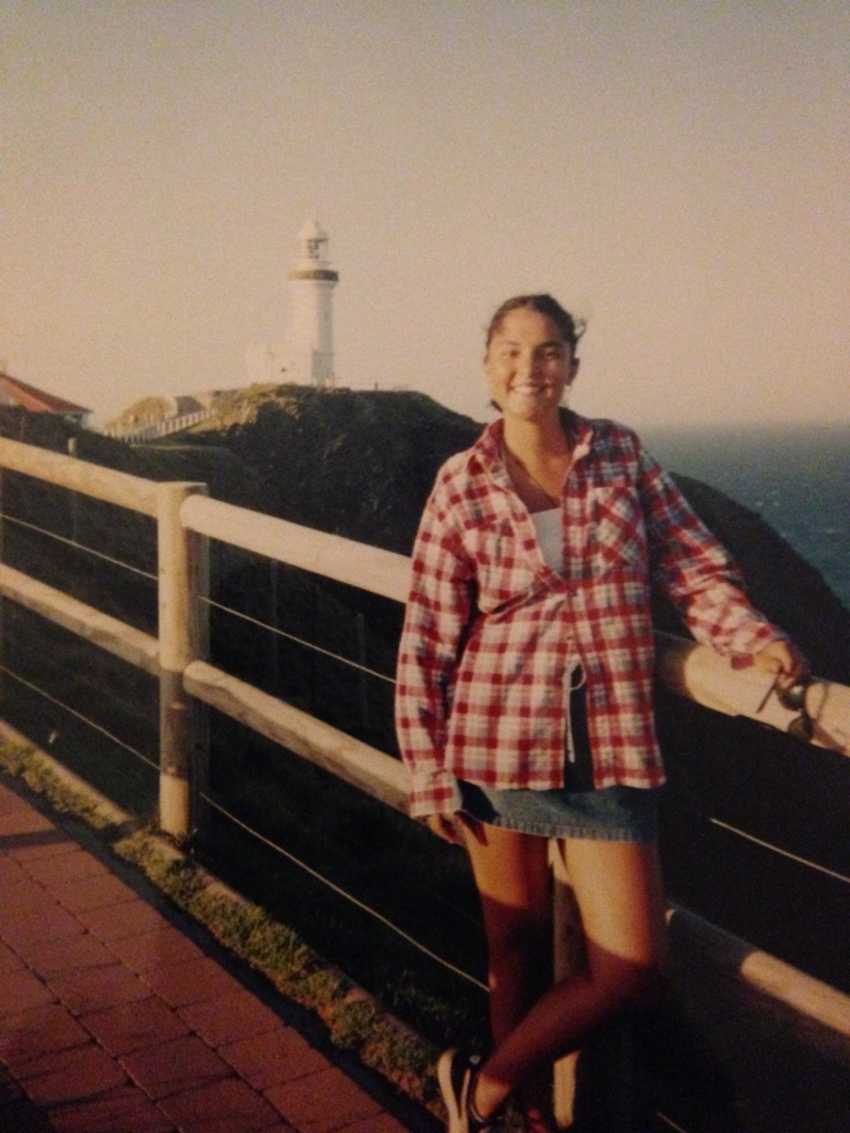 Standing at the most eastern point of Australia, Byron Bay lighthouse, in them midst of a two month road trip in 1995.